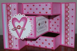 Valentine card fancy fold