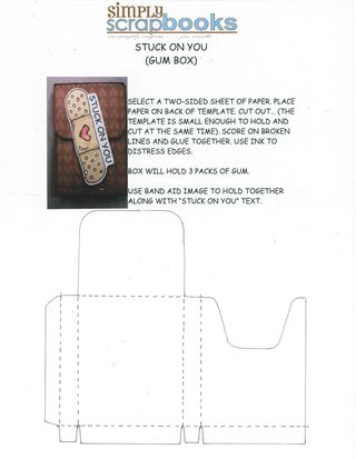 Gum box instructions and template