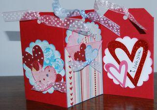 Heart tag accordian