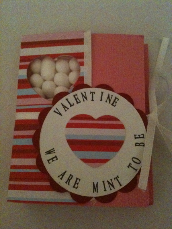 Valentine tic tac holder