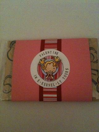 Valentine popcorn gift photo