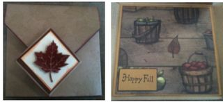 Fall fold card