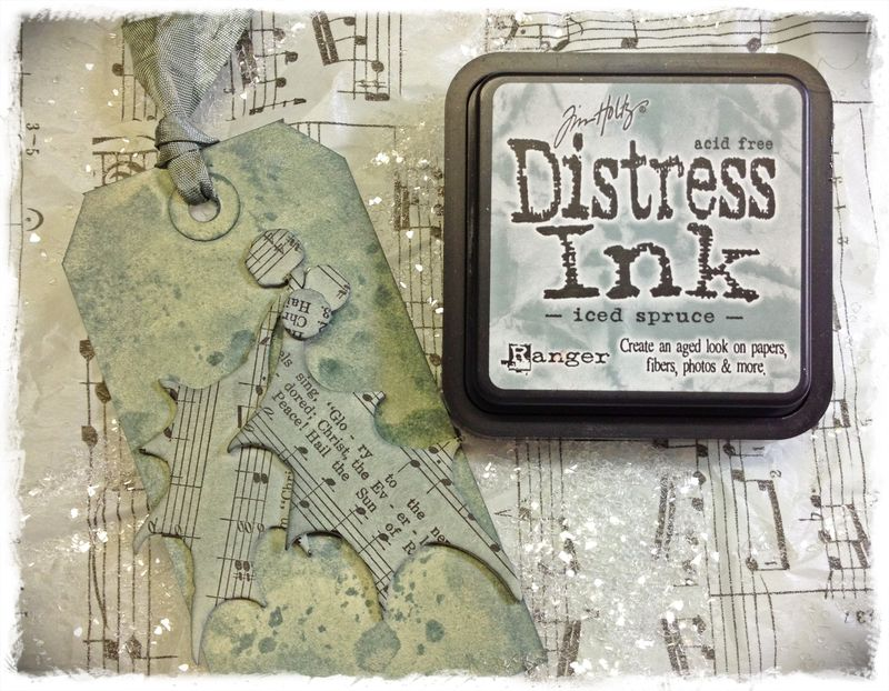 Disstress ink iced spruce