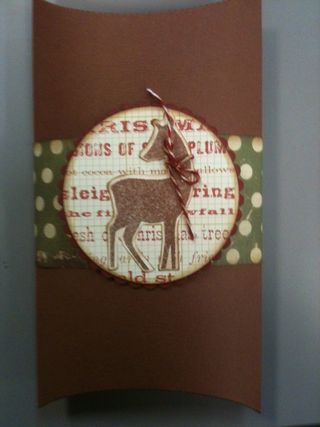 Reindeer pillow box