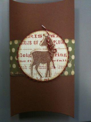 Reindeer pillow box