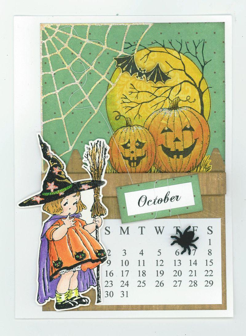OCTOBER CALENDAR CARD