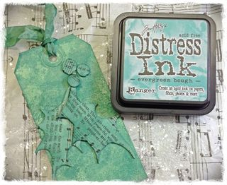 Distress ink evergreen