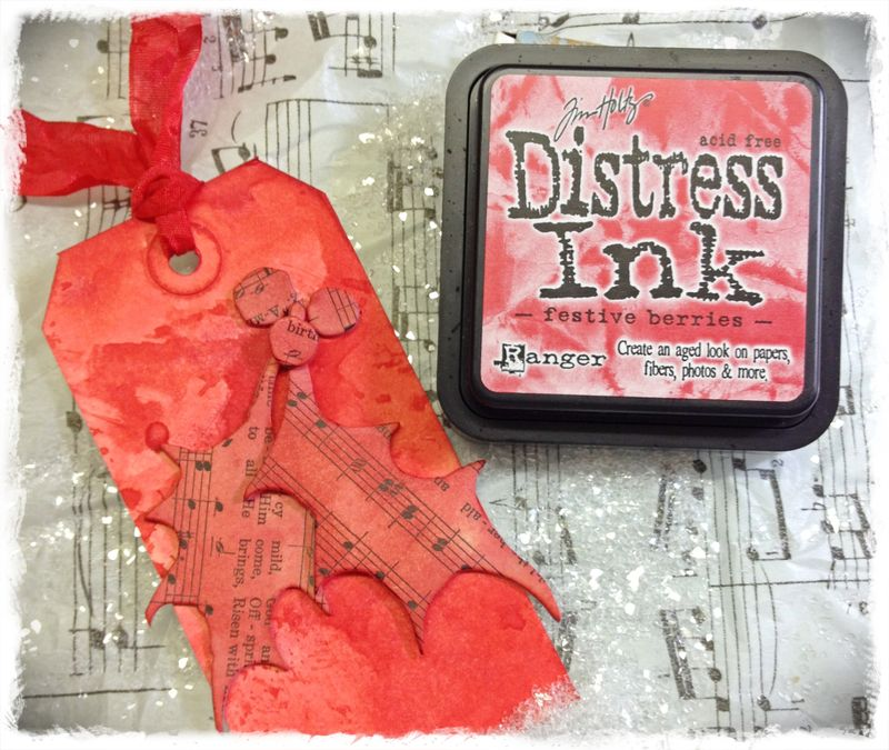 Distress ink berries