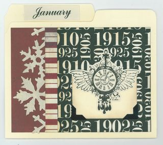 JANUARY CARD ORGANIZER