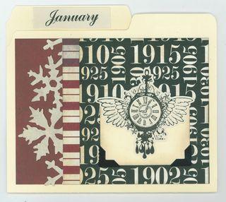 JANUARY CARD ORGANIZER